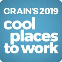 Crain's 2019 Coolest Places to Work award badge