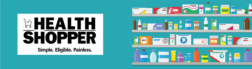 Illustration of healthcare products you can buy from Health Shopper