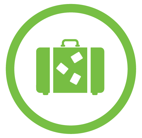 Brief case icon with money inside
